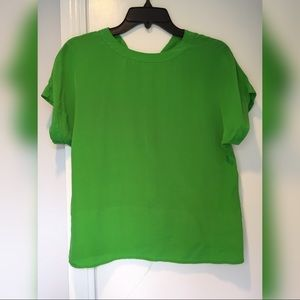 Tops - Unknown brand silk top, mint green color, size 2